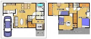 東大阪市新築モデルハウス 間取り